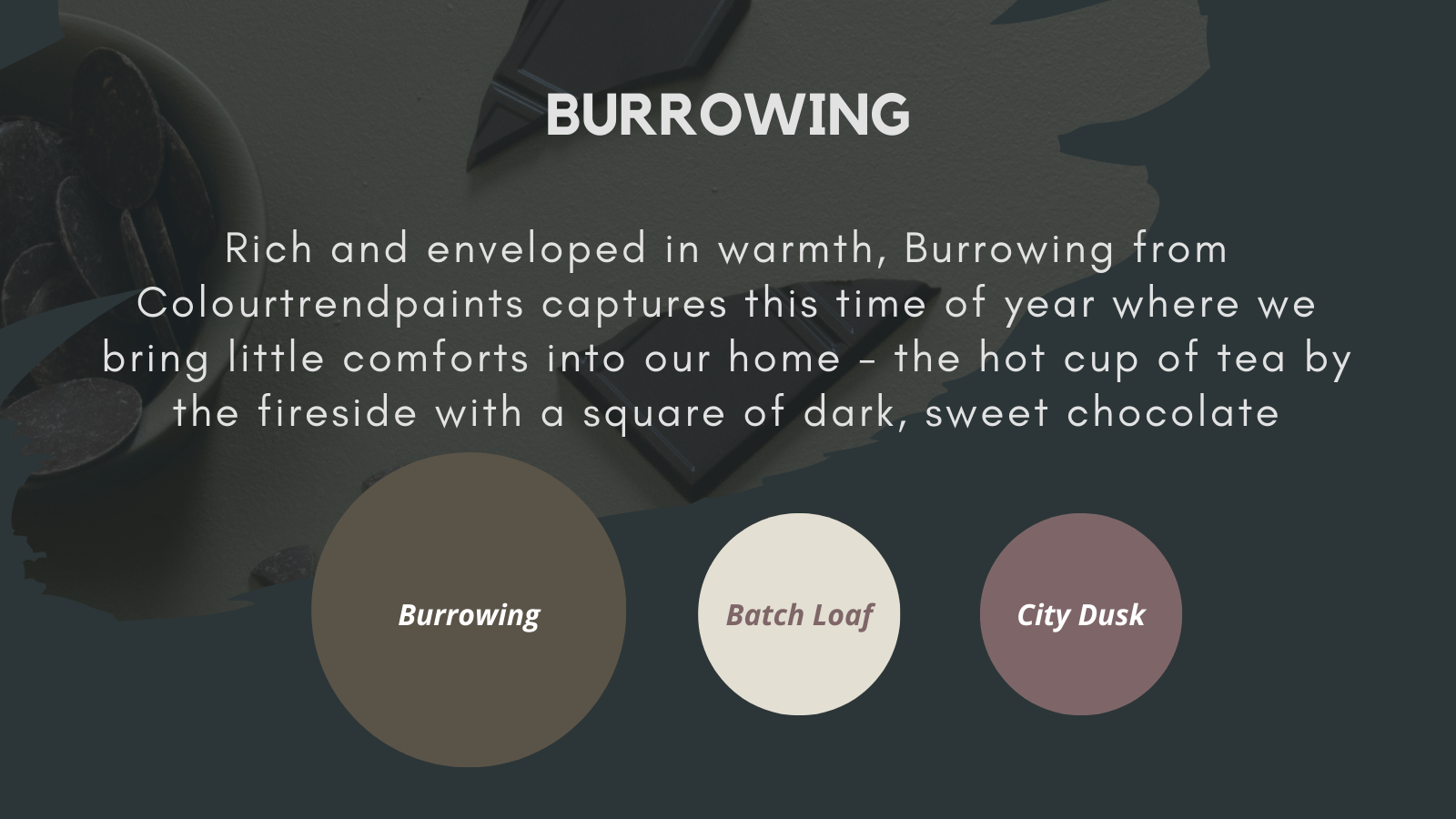 Burrowing Colourtrend